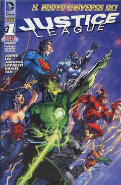 Copertina DC REBOOT VARIANT n.7 - JUSTICE LEAGUE #1 VARIANT, RW LION