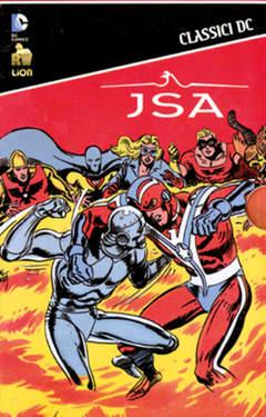 Copertina JSA Slipcase n.1 - Contiene JSA CLASSICI DC 1-5, RW LION