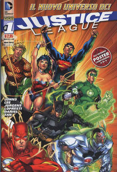 Copertina JUSTICE LEAGUE n.1 - JUSTICE LEAGUE, RW LION