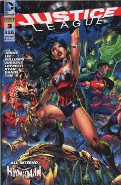 Copertina JUSTICE LEAGUE n.3 - JUSTICE LEAGUE, RW LION