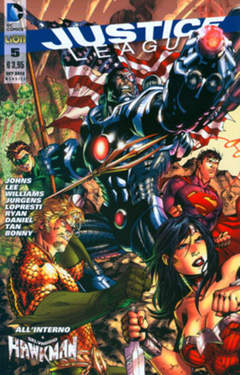 Copertina JUSTICE LEAGUE n.5 - JUSTICE LEAGUE, RW LION