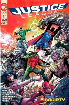 Copertina JUSTICE LEAGUE n.57 - JUSTICE LEAGUE, RW LION