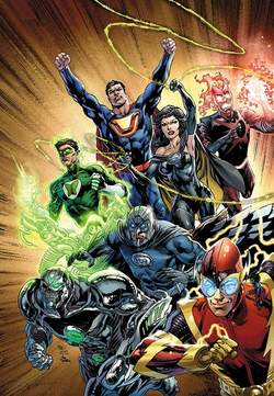 Copertina JUSTICE LEAGUE volume n.6 - FOREVER HEROES, RW LION