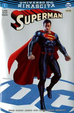 Copertina SUPERMAN #1 Variant Cover n.3 - Silver Chromium Rinascita Silver Point, RW LION
