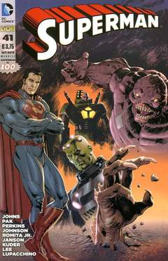 Copertina SUPERMAN 2012 n.41 - SUPERMAN - Cover Claudio VILLA, RW LION
