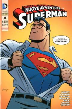 Copertina SUPERMAN LE NUOVE AVVENTURE... n.4 - SUPERMAN: LE NUOVE AVVENTURE DELL'UOMO D'ACCIAIO, RW LION