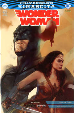 Copertina WONDER WOMAN #22 (S.J.V.C.) n. - Special Justice Variant Cover, RW LION