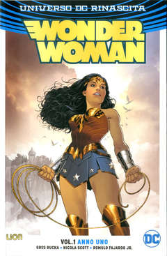 Copertina WONDER WOMAN Rebirth Collect. n.1 - ANNO UNO, RW LION