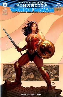 Copertina WONDER WOMAN n.2 - WONDER WOMAN Ultravariant Rinascita Silver Point, RW LION