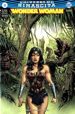 Copertina WONDER WOMAN n.2 - WONDER WOMAN Variant Rinascita Standard Point, RW LION