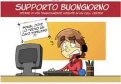 Copertina SUPPORTO BUONGIORNO n. - STORIE DI VITA TRAGICAMENTE VISSUTE IN UN CALL-CENTER, SHOCKDOM