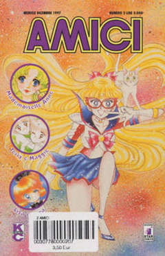Copertina AMICI n.2 - MADEMOISELLA ANNE, LISA E SEYA, SAILOR V, STAR COMICS