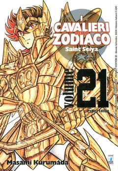 Copertina CAVALIERI ZOD. Perf. Ed. Rist. n.21 - SAINT SEIYA PERFECT EDITION, STAR COMICS