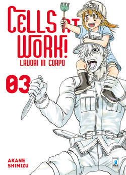 Copertina CELLS AT WORK! LAVORI IN CORPO n.3 - CELLS AT WORK! LAVORI IN CORPO, STAR COMICS