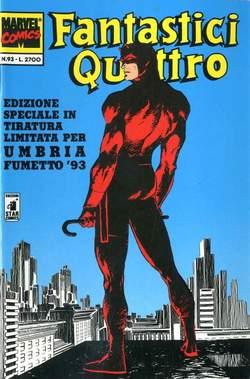 Copertina FANTASTICI QUATTRO FUMETTO n.93 - FANTASTICI QUATTRO 93, UMBRIA FUMETTO, STAR COMICS