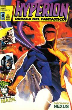 Copertina HYPERION n.2 - HYPERION                     2, STAR COMICS