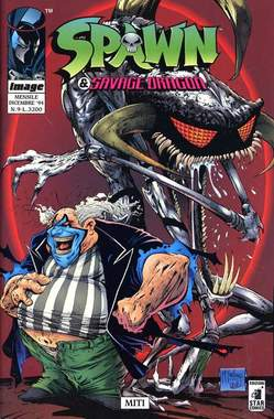 Copertina SPAWN & SAVAGE DRAGON n.9 - SPAWN & SAVAGE DRAGON        9, STAR COMICS