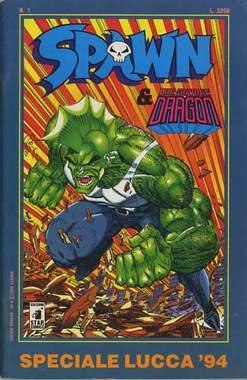 Copertina SPAWN & SAVAGE DRAGON n.1 - SPAWN 1, LUCCA 94, STAR COMICS