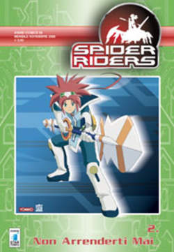 Copertina SPIDERS RIDERS ANIME n.2 - SPIDERS RIDERS 2, STAR COMICS