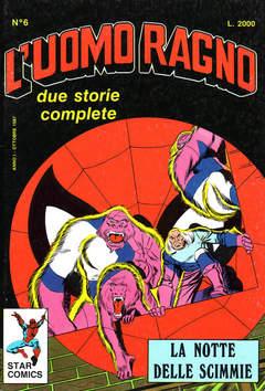 Copertina UOMO RAGNO n.6 - UOMO RAGNO                   6, STAR COMICS
