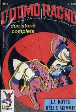 Copertina UOMO RAGNO n.6 - UOMO RAGNO RICOPERTINATO     6, STAR COMICS