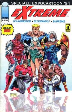 Copertina YOUNGBLOOD n.1 - EXTREME 1, CARTOONCOMICS 94, STAR COMICS