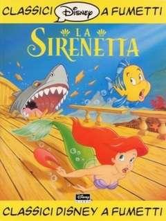 Copertina CLASSICI DISNEY A FUMETTI n.4 - La Sirenetta, WALT DISNEY PRODUCTION