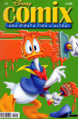 Copertina DISNEY COMIX n.1 - DISNEY COMIX 1, WALT DISNEY PRODUCTION