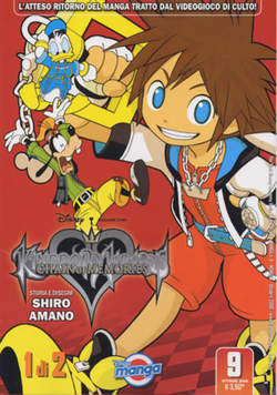 Copertina DISNEY MANGA n.9 - KINGDOM HEARTS CHAIN OF MEMORI, WALT DISNEY PRODUCTION