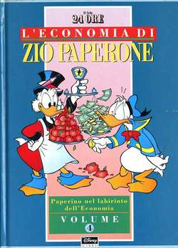 Copertina ECONOMIA ZIO PAPERONE cartonata n.4 - ECONOMIA ZIO PAPERONE cartonata, WALT DISNEY PRODUCTION
