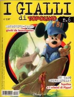 Copertina GIALLI DI TOPOLINO n.6 - GIALLI DI TOPOLINO           6, WALT DISNEY PRODUCTION