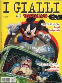 Copertina GIALLI DI TOPOLINO n.8 - GIALLI DI TOPOLINO           8, WALT DISNEY PRODUCTION