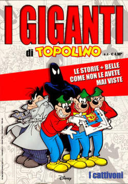 Copertina GIGANTI DI TOPOLINO n.4 - I cattivoni, WALT DISNEY PRODUCTION