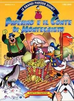 Copertina GRANDI PARODIE n.6 - Paperino e il Conte di Montecristo, WALT DISNEY PRODUCTION