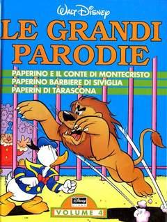 Copertina GRANDI PARODIE VOLUMI n.4 - Paperino e il Conte di Montecristo - Paperino barbiere di Siviglia - Paperin di Tarascona, WALT DISNEY PRODUCTION
