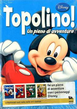 Copertina PIENO DI AVVENTURE n.1 - TOPOLINO, WALT DISNEY PRODUCTION