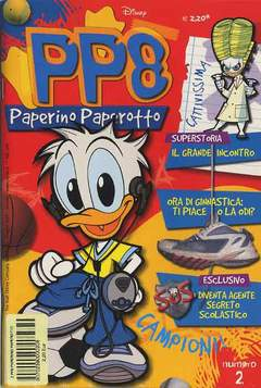 Copertina PP8 PAPERINO PAPEROTTO n.2 - PP8 PAPERINO PAPEROTTO       2, WALT DISNEY PRODUCTION