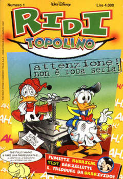 Copertina RIDI TOPOLINO n.1 - RIDI TOPOLINO                1, WALT DISNEY PRODUCTION