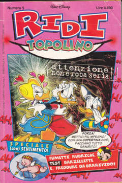 Copertina RIDI TOPOLINO n.5 - RIDI TOPOLINO                5, WALT DISNEY PRODUCTION