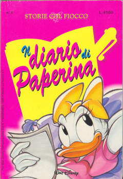 Copertina STORIE COL FIOCCO n.1 - DIARIO DI PAPERINA, WALT DISNEY PRODUCTION