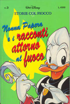 Copertina STORIE COL FIOCCO n.3 - Nonna Papera e i racconti intorno al fuoco, WALT DISNEY PRODUCTION