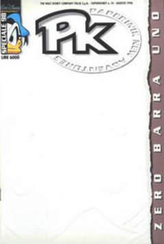 Copertina SUPER DISNEY n.10 - PKNA Speciale 98: Zero barra uno, WALT DISNEY PRODUCTION