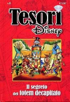 Copertina TESORI DISNEY n.8 - Il segreto del totem decapitato, WALT DISNEY PRODUCTION