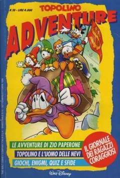 Copertina TOPOLINO ADVENTURE n.10 - TOPOLINO ADVENTURE          10, WALT DISNEY PRODUCTION