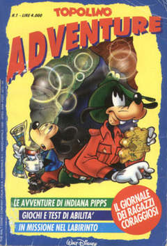 Copertina TOPOLINO ADVENTURE n.1 - TOPOLINO ADVENTURE           1, WALT DISNEY PRODUCTION
