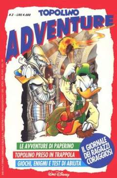 Copertina TOPOLINO ADVENTURE n.2 - TOPOLINO ADVENTURE           2, WALT DISNEY PRODUCTION