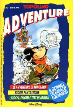 Copertina TOPOLINO ADVENTURE n.3 - TOPOLINO ADVENTURE           3, WALT DISNEY PRODUCTION
