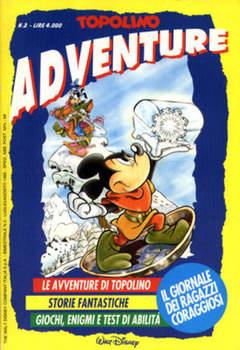 Copertina TOPOLINO ADVENTURE n.3 - TOPOLINO ADVENTURE           3, WALT DISNEY PRODUCTION