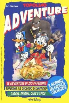 Copertina TOPOLINO ADVENTURE n.6 - TOPOLINO ADVENTURE           6, WALT DISNEY PRODUCTION