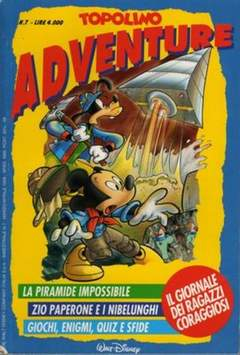 Copertina TOPOLINO ADVENTURE n.7 - TOPOLINO ADVENTURE           7, WALT DISNEY PRODUCTION